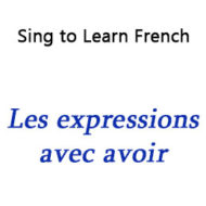 "Les expressions avec « avoir » – Expressions with ""Avoir"""